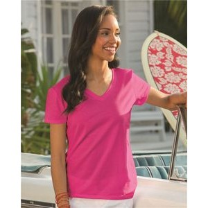 Fruit of the Loom� Women's HD Cotton� V-Neck T-Shirt