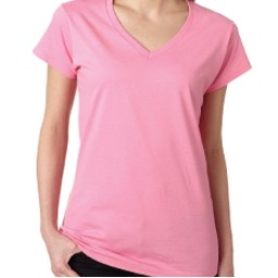 Gildan Ladies' Junior Fit Softstyle V-Neck T-Shirt